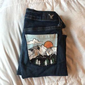 Denim - Painted jeans